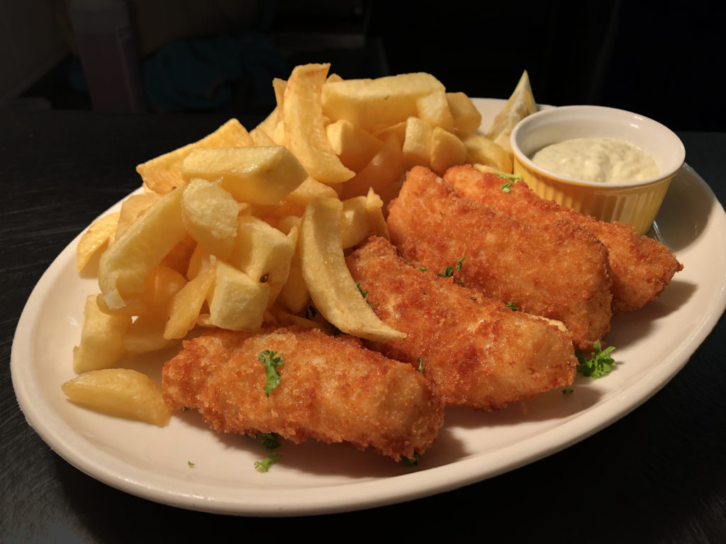 Breaded Cod Goujons with Homemade Chips